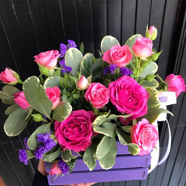 """Ящик с цветами """"Рози"""""""