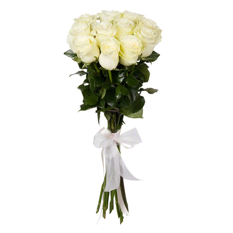 Букет из 9 белых роз премиум